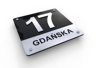 3D W1 Číslo na dome Podpísať adresu 25x25 ALU