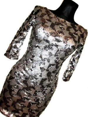 8a77d82f6f Sukienka cekiny srebrna j Balmain H M 36 S - 5998295924 - oficjalne ...