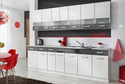 Мебель Кухонные МАМБА белая 2 ,6 - 3 ЦВЕТА