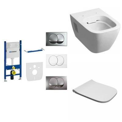 WC misa - Shell kolieska MODO rámček GEBERIT