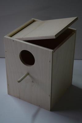 будка гнездования для попугаев гофрированный ярко