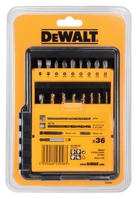 Bit nastavený a DEWALT vrtákov (36 Ks) DT71565-QZ