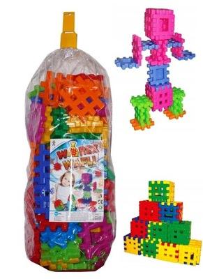 NAJWIĘKSZE Klocki konstrukcyjne WAFLE dla dzieci