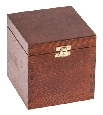 Organizér, kufrík, skrinka - PUDEŁKO 13x13x13,5 PREZENT ozdoba DECOUPAGE ORZECH