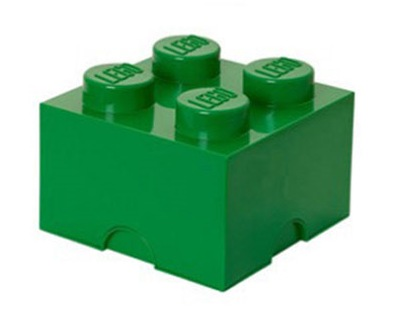 LEGO POJEMNIK PUDEŁKO KLOCEK 4 ZIELONY 25 cm