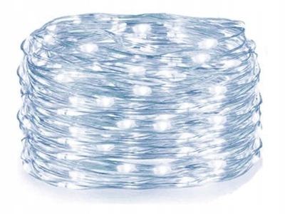 100 LED ПРОВОЛОЧКИ НА батареи  огни МИКРО РОЖДЕСТВЕНСКИЕ