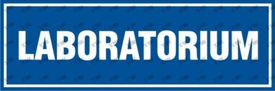 Laboratorium znak tabliczka 10x30 PCV
