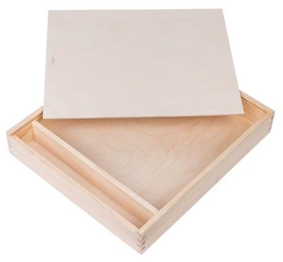 Úložný box - PUDEŁKO na album i PENDRIVE 34x39cm DECOUPAGE