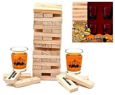 Для ВЕЧЕРИНОК башня алкогольная игра JENGA - на подарок