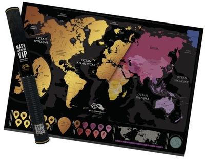 Карта Скретч-карта VIP, Европа+Мир, Красивый подарок