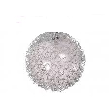 Абажур G4 шар стеклянный прозрачный + оплетка квасцов