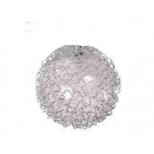Klosz G4 kula szklany przeźroczysty + oplot alum