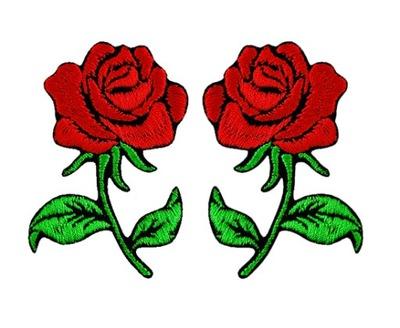 Полоса аппликация Участок термо роза МАЛЕНЬКАЯ войлок 2 штук