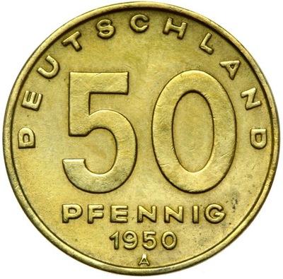 Германия DDR - монета - 50 Pfennig 1950  - ФАБРИКА