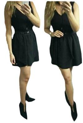 d79a4a68c6 sukienka LEMONADA czarna KAMIENIE mini SEXY 38 M 7476645326 - Allegro.pl