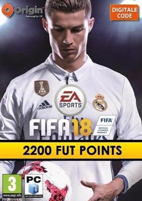 FIFA 18 - 2200 POINTS ULTIMATE TEAM KLUCZ ORIGIN