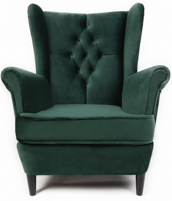 Кресло  Стиль скандинавский гламур с подставкой для ног
