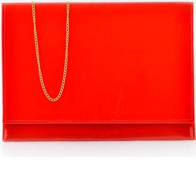 91f15f53eaae8 czerwona kopertówka z kołami torebka klamra wesele 7200080289 ...