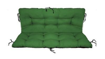 подушка на скамейку садовую качели 100x60x50 зеленый