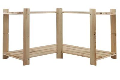 Regał biurowy B-09 50x85x38 2 półki drewniany -30%