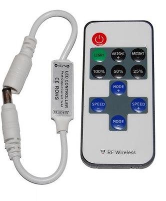 Диммер мини РФ 12V 72W + пульт для лента LED