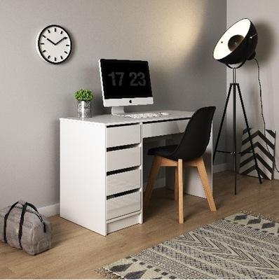 Počítačový Stôl office zásuvky Stôl biely