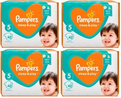 Pampers Sleep&Play 5 pieluchy pieluszki 168szt