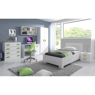 Detský nábytok set posteľ polica BIELA možnosti