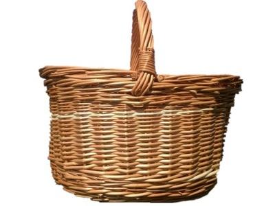 Veľký Kôš Prútený košík na huby nakupovanie na PIKNIK.