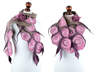 шаль с розами розочки романтичный подарок для женщины