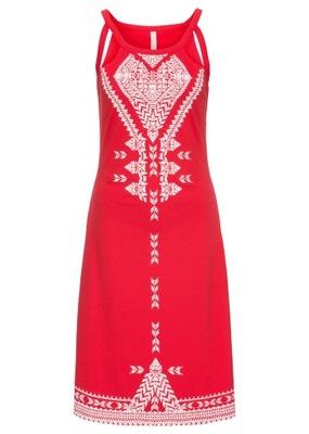 fb0bd1e8bd Sukienka Trapezowa z Efektowną Falbaną - 42 - 7661483756 - oficjalne ...