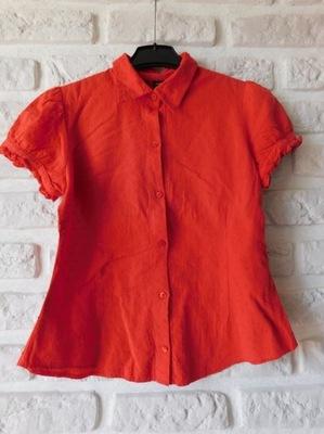 Bluzka H&M koszula 38 M czerwona bawełniana