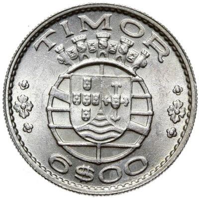 + Тимор - 6 Escudo 1958 - серебро - MENNICZA !