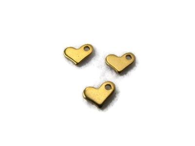 С-351 Кулон Нержавеющая сталь сердце Золота
