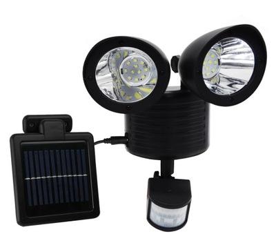 Solárne dvojité lampa so senzorom, 22 Led SMD.