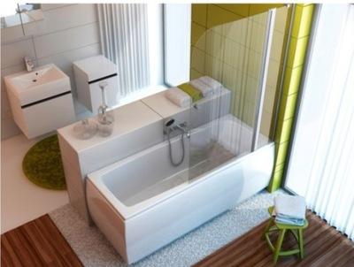 Sprchové dvere - Obrazovka na vane 100 cm Priechod chrómového skla