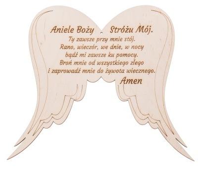 OstatnéWINGS angel s drevenou dekoráciou MODRÁ GRAWER