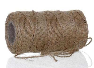 шнурок натуральный льняной, мощный, декоративный  70м