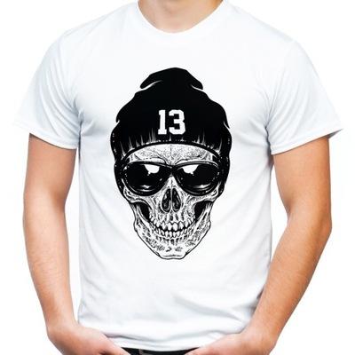 08769d34c Koszulka z czaszką w czapce na prezent czaszka -L - 6968629614 ...