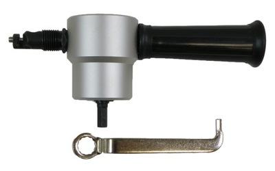 Elektrické nožnice na plech - Adaptér na rezanie plechu pre vŕtačku
