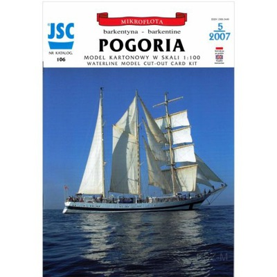 JSC-106 - Polska barkentyna POGORIA 1:100