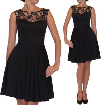fafd5d6e5bf8f2 CHABROWA sukienka SZPIC spódnica TRAPEZ 44 Dłuższa - 6593254424 ...
