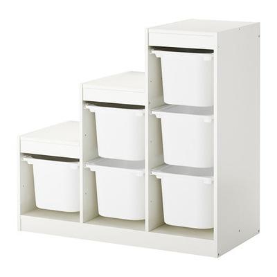Икеа стеллаж контейнеры ТРУФАСТ 99x44x94 Белый /Белый