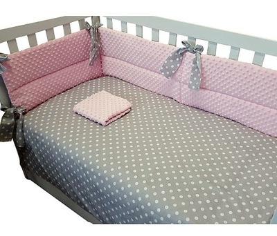 Sada na posteľ - Detské podstielky obojstranné minky + bavlna 6l.