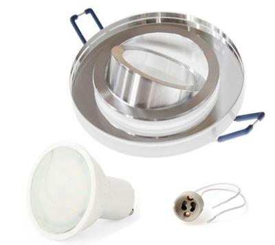NASTAVIŤ krycie sklo halogénové lampy S rotujúcimi LED 8W
