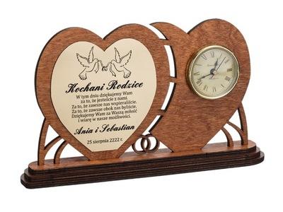Красивые благодарность ДЛЯ РОДИТЕЛЕЙ + часы гравер