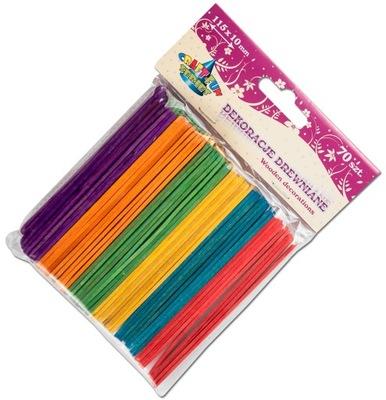 палочки для МОРОЖЕНОЕ деревянные цветные 70 штук ДЕКО