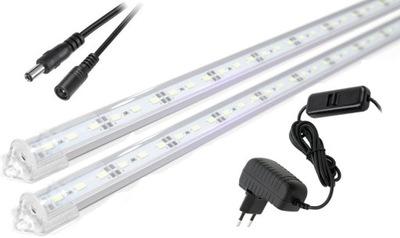 Lampa, luster, svietidlo -  Oświetlenie LED podszafkowe listwa blat 2x80cm