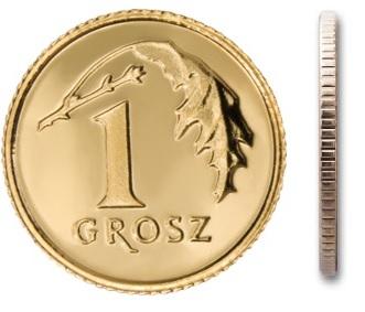 1 gr grosz 2008 mennicza mennicze z woreczka