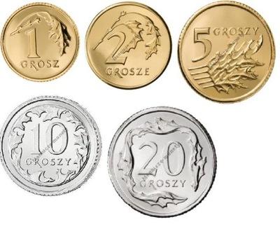 1,2,5,10,20 gr rocznik 2002 r komplet 5 monet